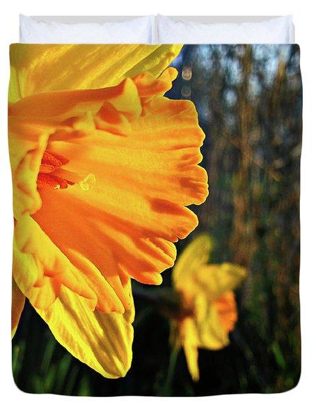 Daffodil Evening Duvet Cover