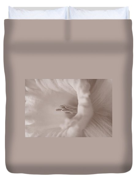 Daffodil In White Duvet Cover