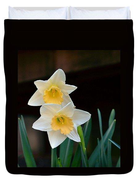 Daffodil Duvet Cover by Kathy Eickenberg