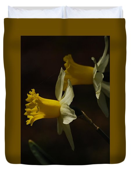 Duvet Cover featuring the photograph Daffodil by Ramona Whiteaker