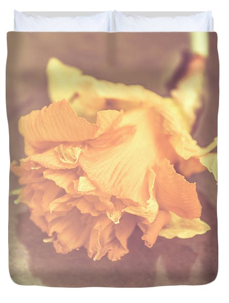 Daffodil Reflections  Duvet Cover
