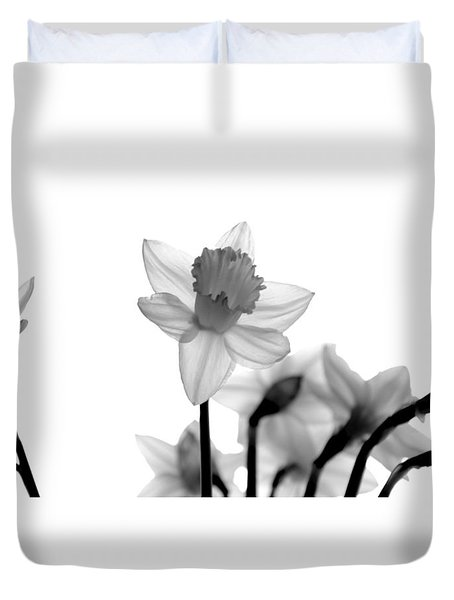 Duvet Cover featuring the photograph Daffodil Reimagined by Corinne Rhode