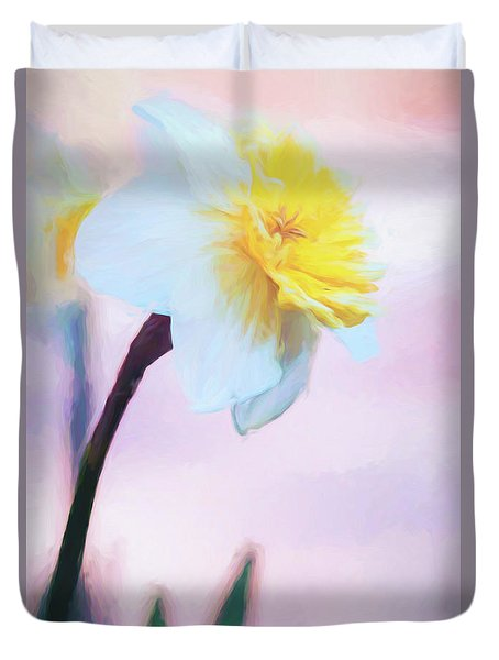 Daffodil Smiling At The Sky Duvet Cover