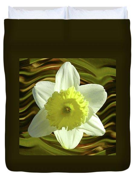 Daffodil Swirl Duvet Cover