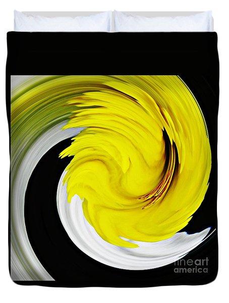 Daffodil Twist Duvet Cover by Sarah Loft