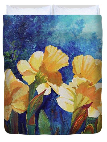 Daffodils Duvet Cover by Alika Kumar