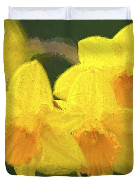 Daffodils Nodding Photoart Duvet Cover
