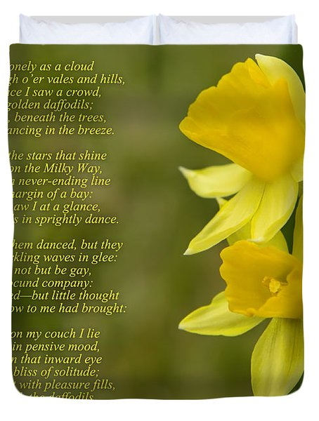 Daffodils Poem By William Wordsworth Duvet Cover