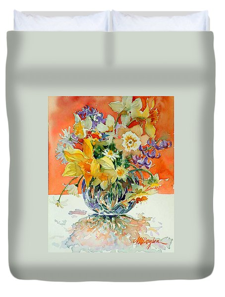 Daffs And Daisies Duvet Cover
