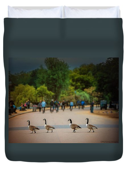 Daffy Road Duvet Cover by Wallaroo Images