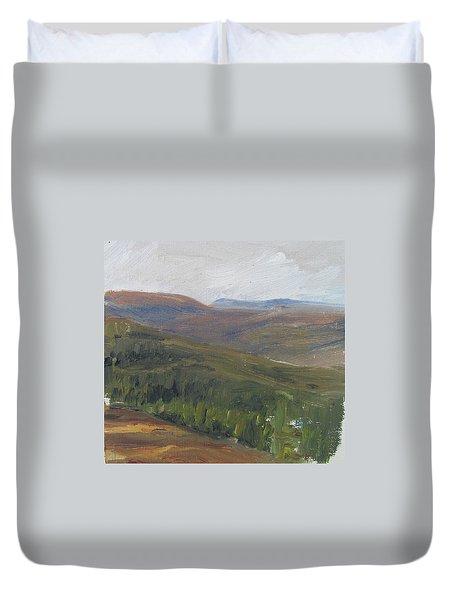 Dagrar Over Salenfjallen - Shifting Daylight Over Distant Horizon 1 Of 10_0034 50x50 Cm Duvet Cover