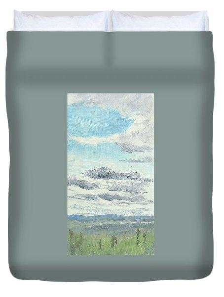 Dagrar Over Salenfjallen- Shifting Daylight Over Distant Horizon 10 Of 10_0029 Duvet Cover