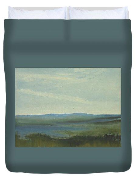 Dagrar Over Salenfjallen- Shifting Daylight Over Distant Horizon 6 Of 10 Duvet Cover