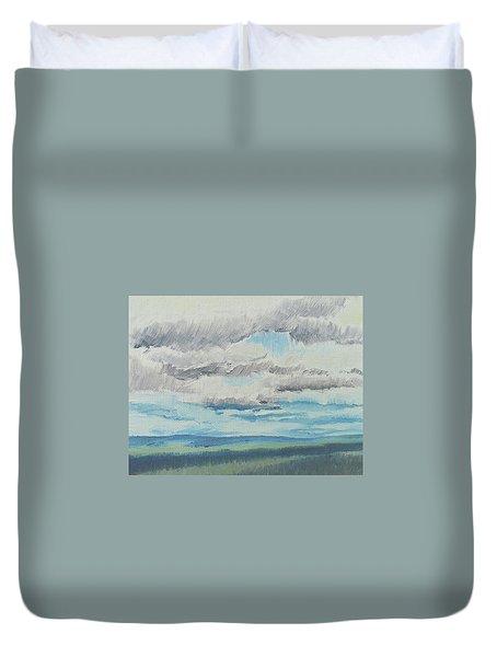 Dagrar Over Salenfjallen- Shifting Daylight Over Distant Horizon 8 Of 10_0029 Duvet Cover