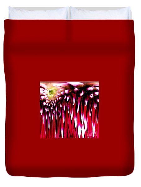 Dahlia Abstract Duvet Cover by Rose Santuci-Sofranko