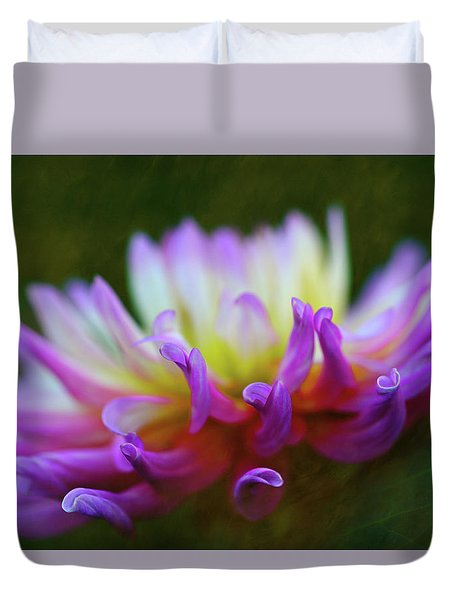 Dahlia Bloom  Duvet Cover