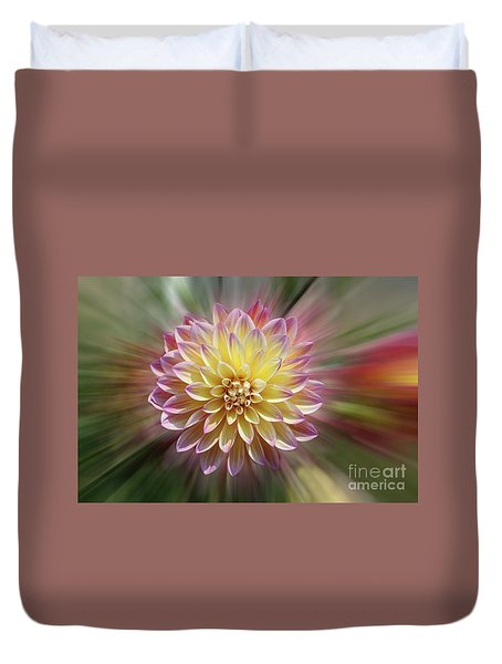Dahlia Burst Duvet Cover by Judy Whitton