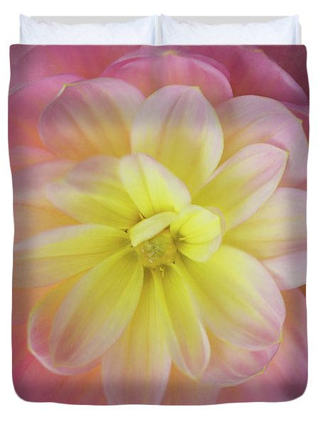 Duvet Cover featuring the photograph Dahlia Cloud by Mary Jo Allen