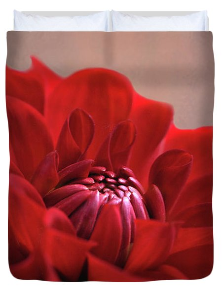 Dahlia Dalliance  Duvet Cover