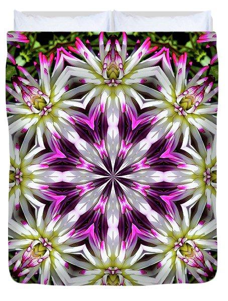 Dahlia Flower Circle Duvet Cover