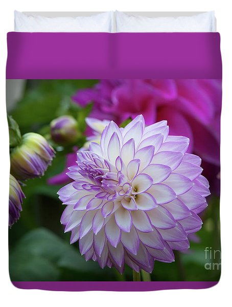 Dahlia Duvet Cover by Glenn Franco Simmons