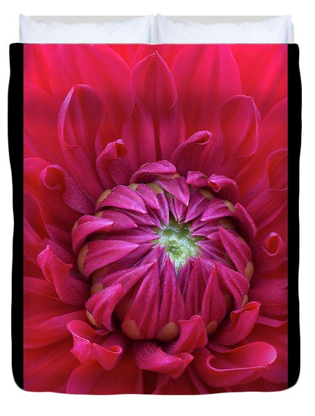 Dahlia Heart Duvet Cover