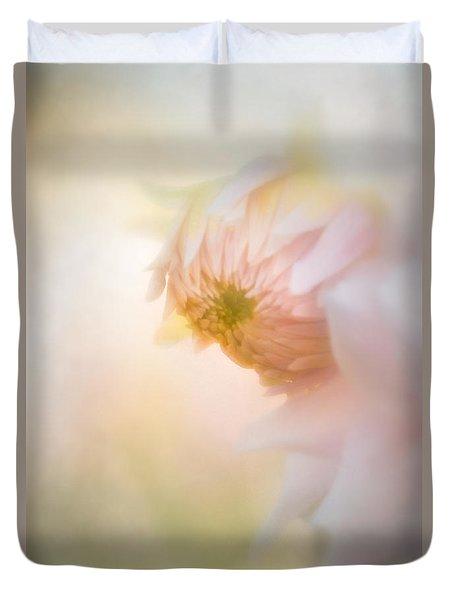 Dahlia In The Soft Morning Mist Duvet Cover
