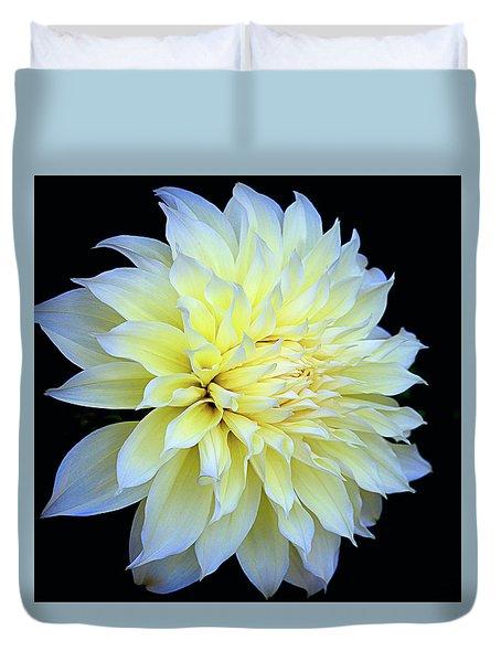 Duvet Cover featuring the photograph Dahlia Kelvin Floodlight by Julie Palencia