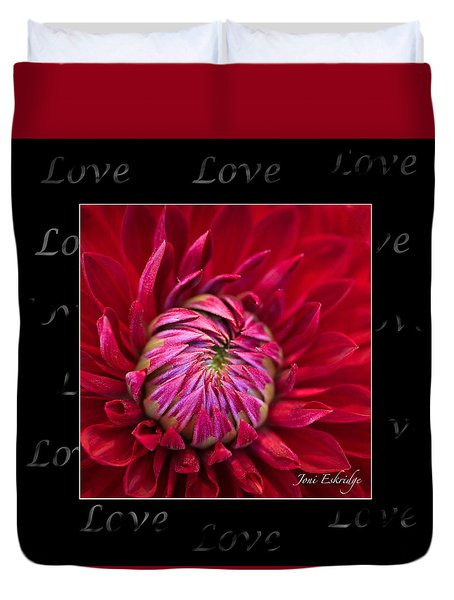 Dahlia Of Love Duvet Cover