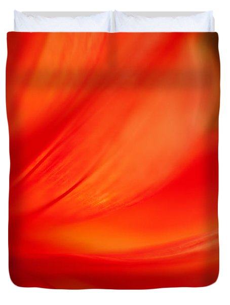 Dahlia On Fire Duvet Cover by Mike Reid
