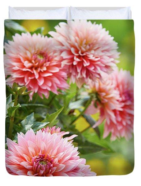 Dahlia Passion Fruit Duvet Cover