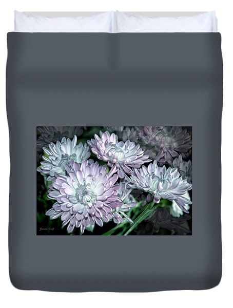 Duvet Cover featuring the photograph Dahlia Show by Bonnie Willis