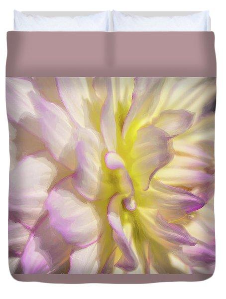 Dahlia Study 5 Painterly  Duvet Cover
