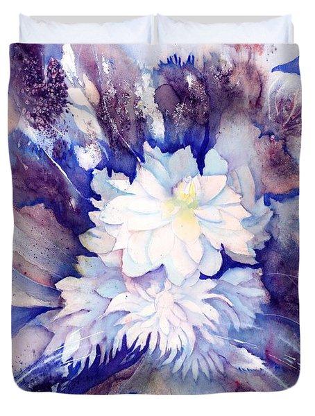 Dahlias Flower Bouquet Duvet Cover