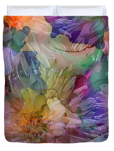 Dahlias Duvet Cover