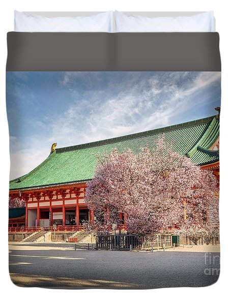 Daigukuden Main Hall Of Heian Jingu Shrine Duvet Cover