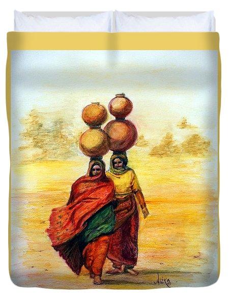 Daily Desert Dance Duvet Cover by Alika Kumar