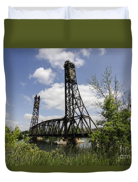 Dain City Railroad Bridge Duvet Cover