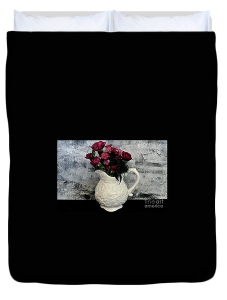 Duvet Cover featuring the photograph Dainty Flowers by Marsha Heiken
