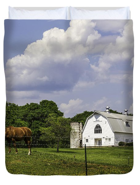 Dairy Barn Panorama 03 Duvet Cover