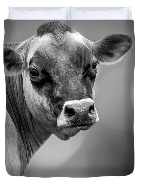 Dairy Cow Elsie Duvet Cover by Bob Orsillo