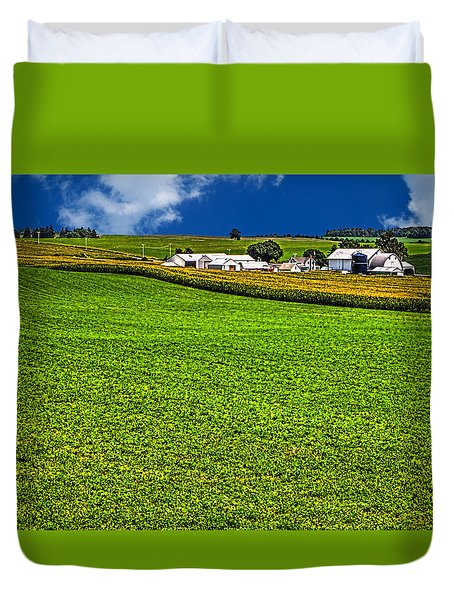 Dairy Farm Dane County Wisconsin Duvet Cover