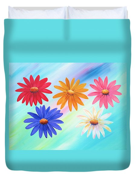 Daisies Duvet Cover by Elizabeth Lock