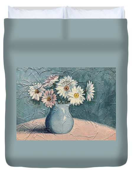Daisies Duvet Cover by Janet King