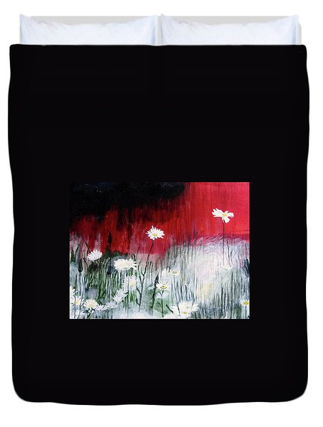 Daisies Duvet Cover by Mary Ellen Frazee
