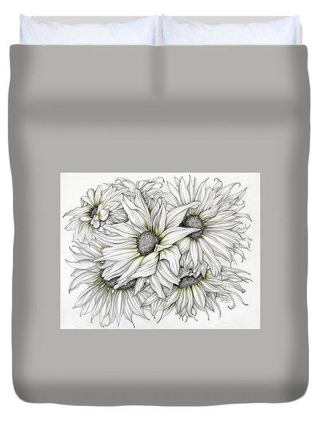 Sunflowers Pencil Duvet Cover