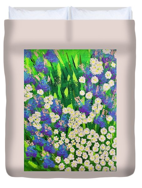 Daisy And Glads Duvet Cover
