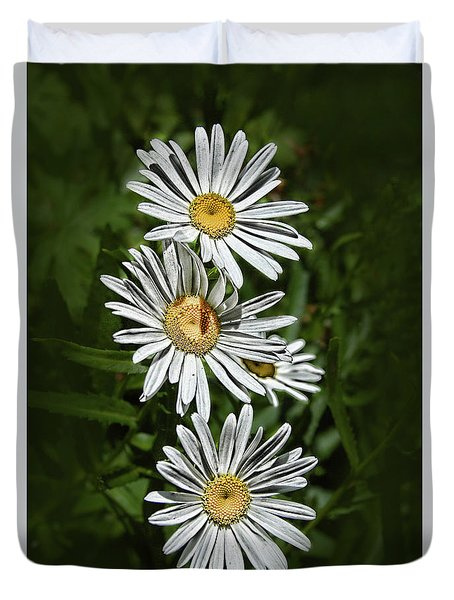 Duvet Cover featuring the photograph Daisy Chain by Marie Leslie