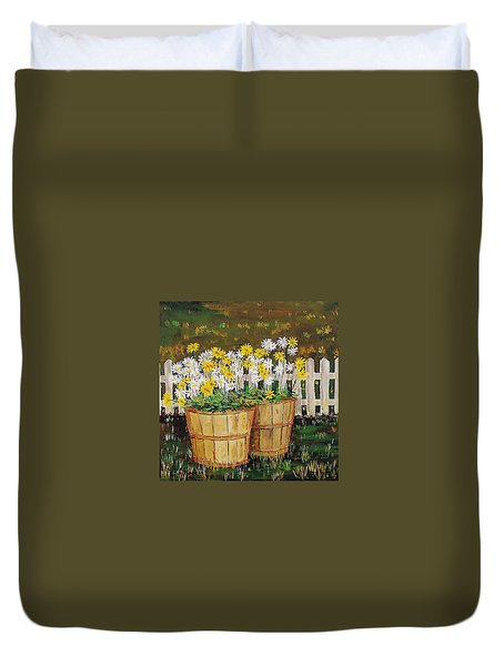 Daisy Crazy Duvet Cover by Mike Caitham