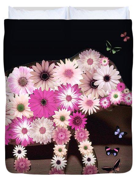 Daisy Elephant Duvet Cover
